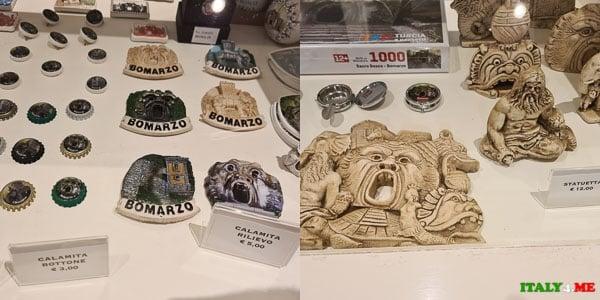 Сувенирный магазин в парке Монстров Бомарцо