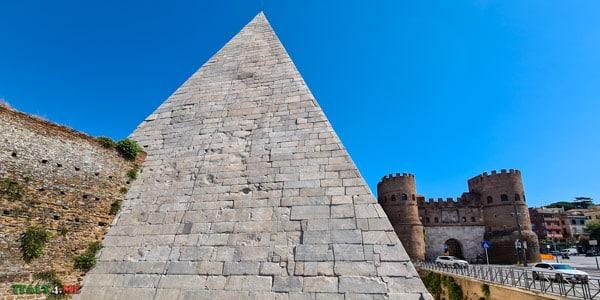 Пирамида Гая Цестия и ворота Сан Паоло в 2020 году