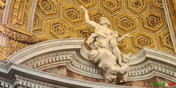 скульптура Антонио Рагги белоснежная статуя Андрея Первозванного