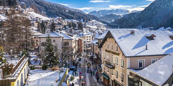 город Ортизеи в Италии – популярный горнолыжный курорт