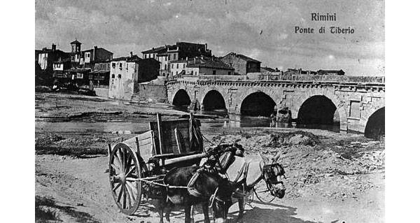 Мост Тиберия после наводнения в начале 20 века