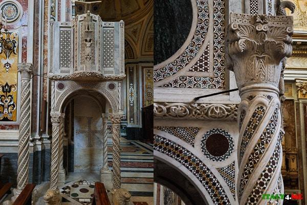 Амвон в стиле косматеско Аббатство Святой Троицы в Кава-де-Тиррени