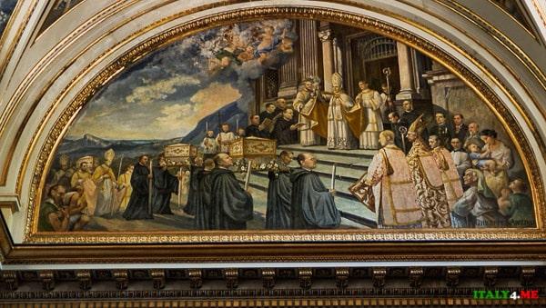 религиозные сцены со святыми отцами-бенедиктинцами