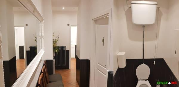Туалет в ресторане Alfredo alla Scrofa