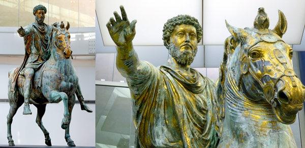 Конная статуя Марка Аврелия оригинал в Капитолийских музеях