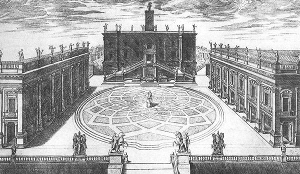 Капитолийская площадь проект Микеланджело