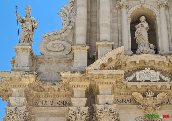 Фасад Кафедральный собор Сиракуз