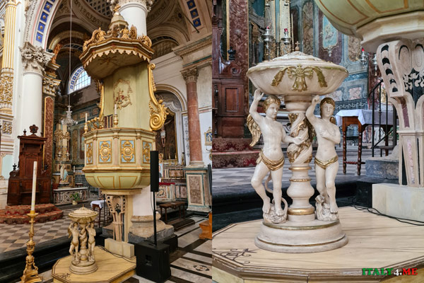 Внутреннее убранство Дуомо святого Петра в Модике