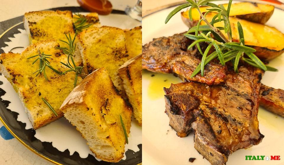 ягнёнок на гриле Agnello scottadito alla griglia традиционное блюдо региона Умбрия