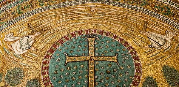 Византийская мозаика в базилике Сант-Аполлинаре-ин-Классе Равенна