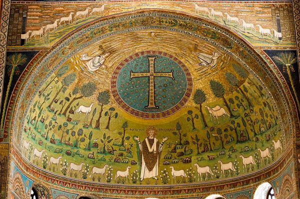 Мозаика в базилике Сант-Аполлинаре-ин-Классе Равенна