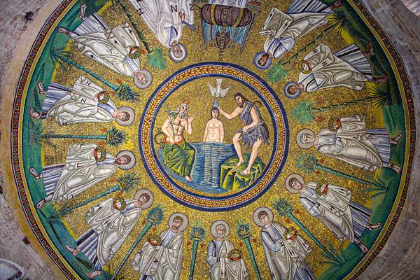 Мозаика арианский баптистерий в Равенне