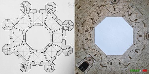 Крепость Кастель дель Монте имеет форму идеального восьмиугольника