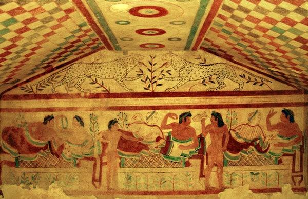 Этрусская гробница Леопардов в Тарквинии