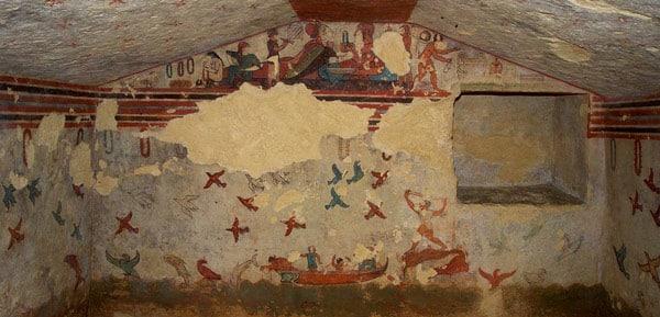 Гробница охоты и рыбалки в Тарквинии