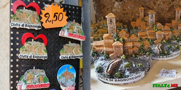 Сувениры в Чивита ди Баньореджо
