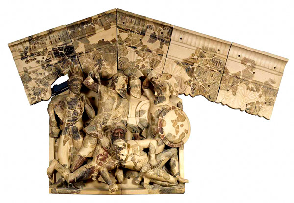Горельеф Пирги в национальном музее этруссков Рим