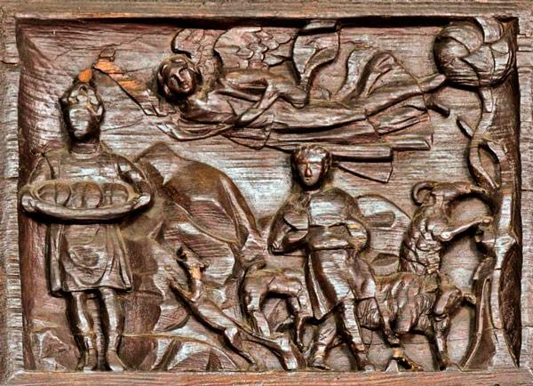 Аввакум приносящий еду пророку Даниилу