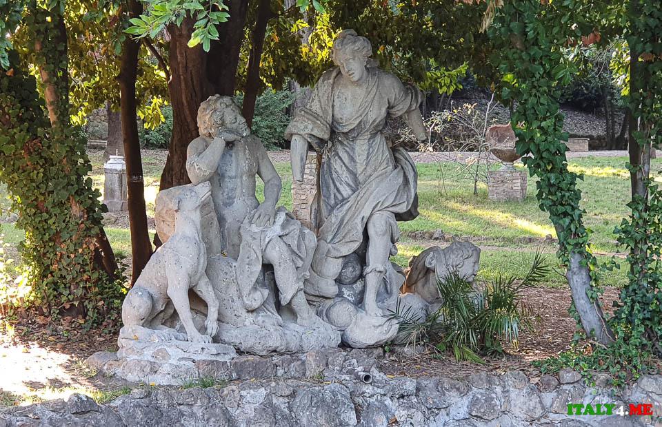 Фонтан Дианы и Эндимиона (Fontana di Diana ed Endimione) вилла Шарра Рим