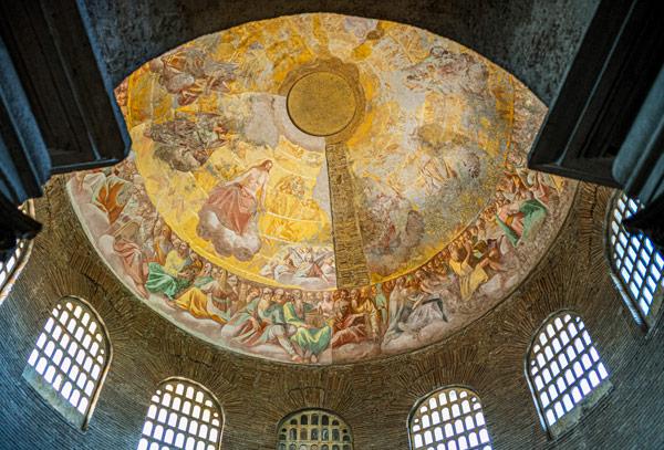 Фрески на куполе мавзолея Констанции в Риме