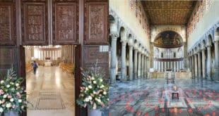 Деревянные двери V века в римской церкви Санта Сабина