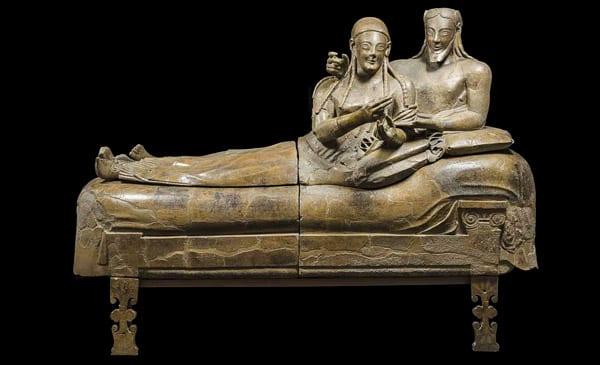 Саркофаг супругов (Sarcofago degli Sposi) в музее этруссков Рим