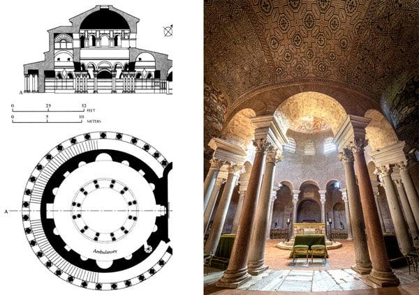 Схема мавзолея Констанции в Риме