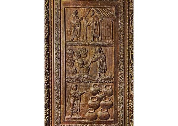 Изображение 3 чудес на дверях в базилике Санта Сабина Рим