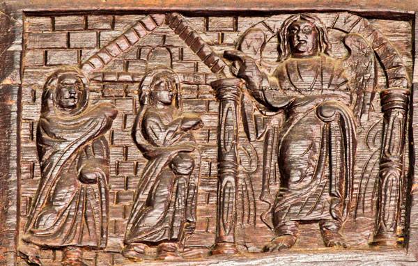 Жены-мироносицы встречают Ангела у Гроба Господня