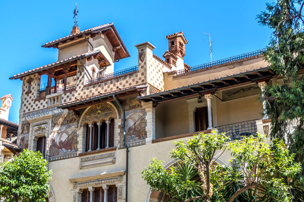 Элементы зданий квартала Коппеде в Риме