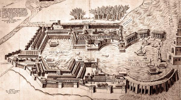 Реконструкция порта Древней Остии (Ostia Antica)