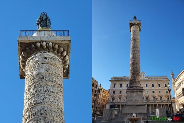 Колонна Марка Аврелия на виа дель Корсо в Риме