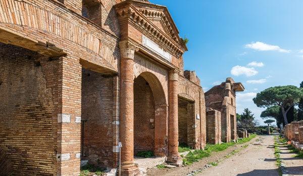 складское здание в Остии Horrea Epagathiana et Epaphroditiana