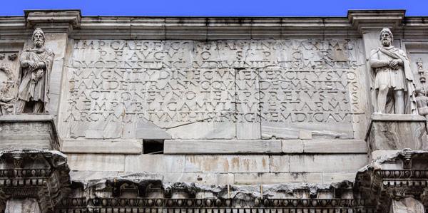 Надписи на латыни триумфальная арка Константина Великого в Риме