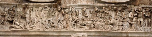 Барельеф на фризе арки Константина в Риме победа императора