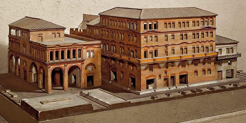 Реконструкция инсулы в Древнем Риме