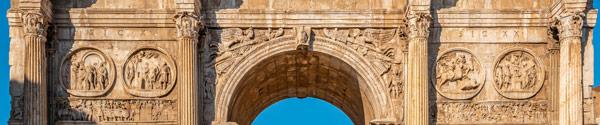 Тондо круглые изображение барельефы на арке Константина в Риме