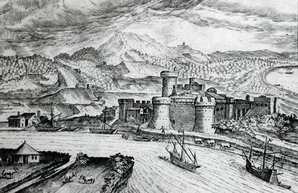 Вид на Остию в XVI веке Hendrick van Cleve III