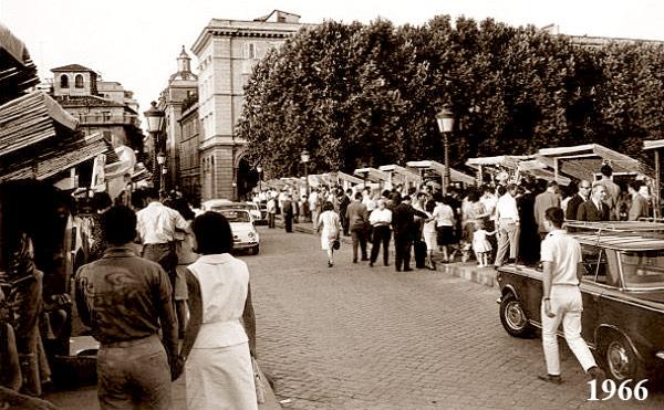 Рынок на мосту Сикста в Риме 1970-е годы