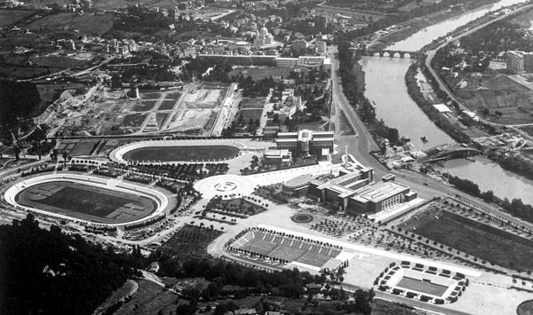 Олимпийский стадион в Риме в 1940 году