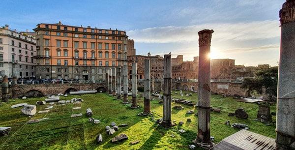 Базилика Ульпия (Basilica Ulpia) на Форуме Траяна в Риме