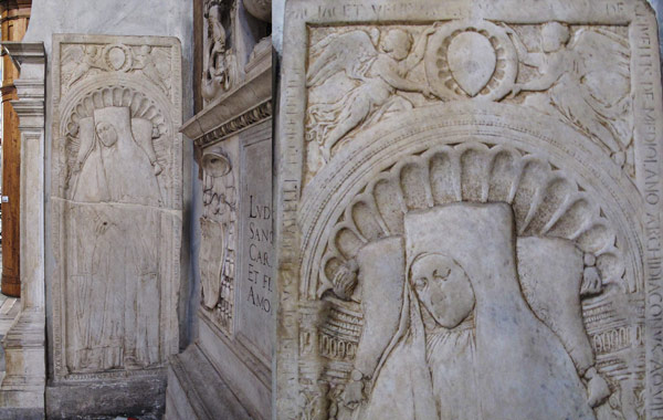 Надгробная плита Джованни Кривелли выполненная Донателло