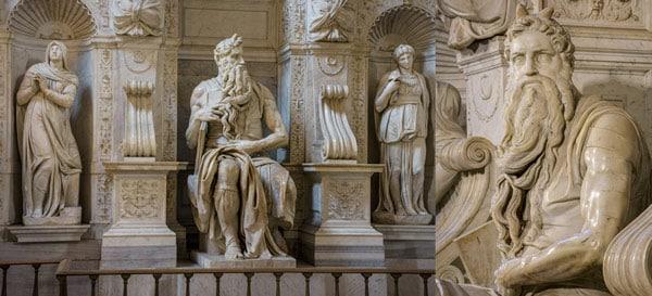 Статуя Моисея Микеланджело в Риме