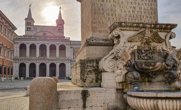 Латеранский дворец (Palazzo del Laterano) в районе Монти Рим