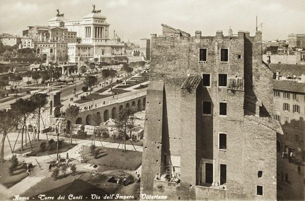 средневековая башня Торре деи Конти(Torre dei Conti) в Риме