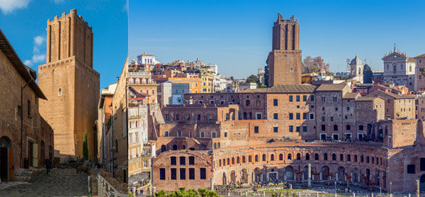 Торре делле Милизи или Башня ополченцев (Torre delle Milizie) в Риме