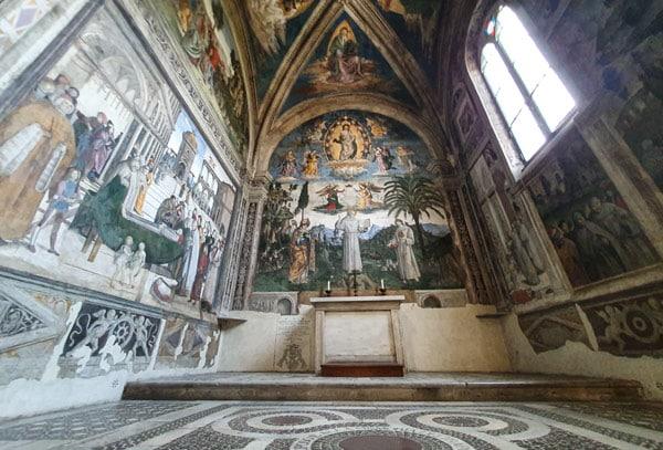 Житие святого Бернардина Сиенского Часовня Буфалини базилика Санта-Мария ин Арачели Рим
