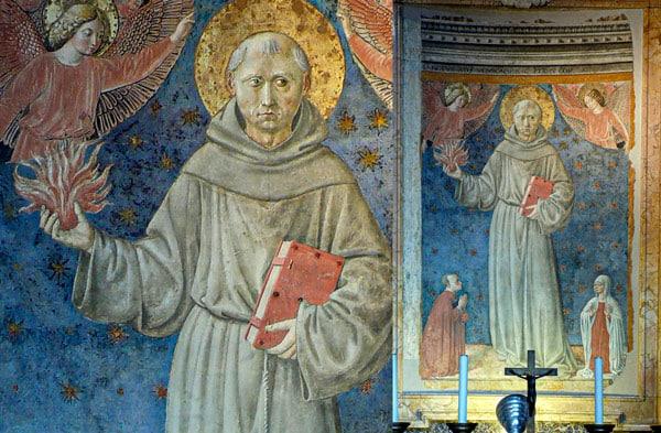 фреска Антония Падуанского с книгой
