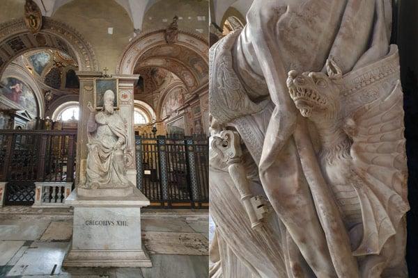 Скульптура папы Григория XIII в базилике Санта-Мария-ин-Арачели в Риме