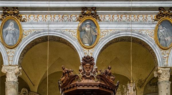 Тондо францисканских святых базилика Санта-Мария ин Арачели Рим